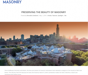 Masonry Magazine Article